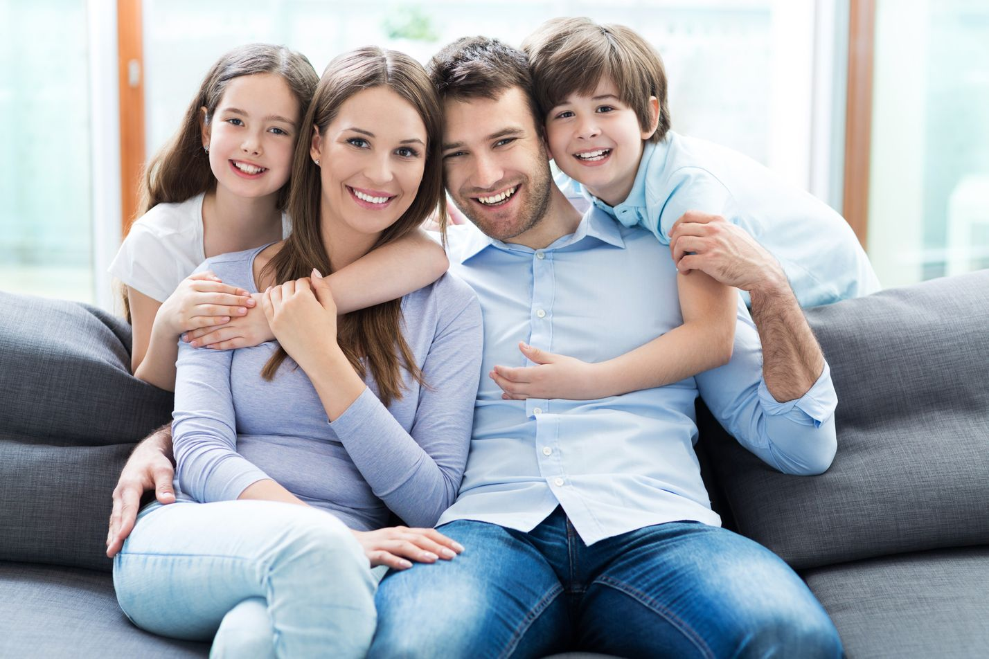 family with great dental health